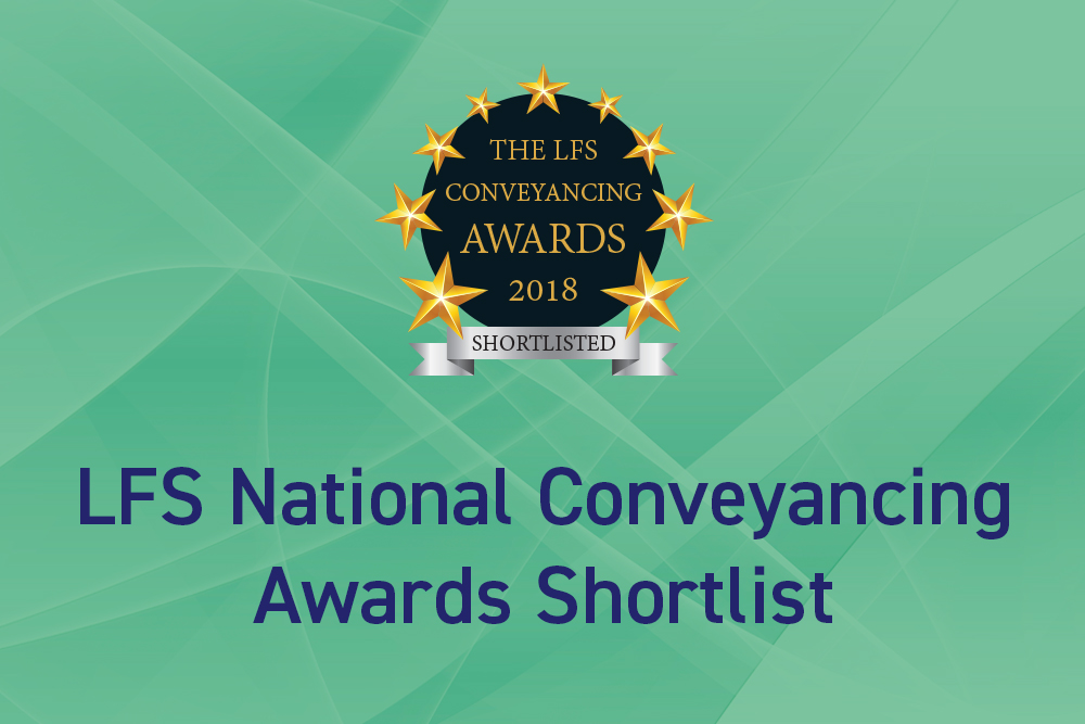 Shortlisted for LFS National Conveyancing Awards