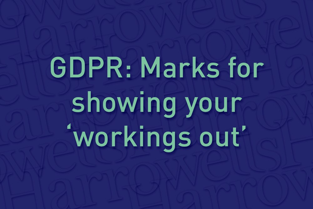GDPR: Marks for showing your workings out