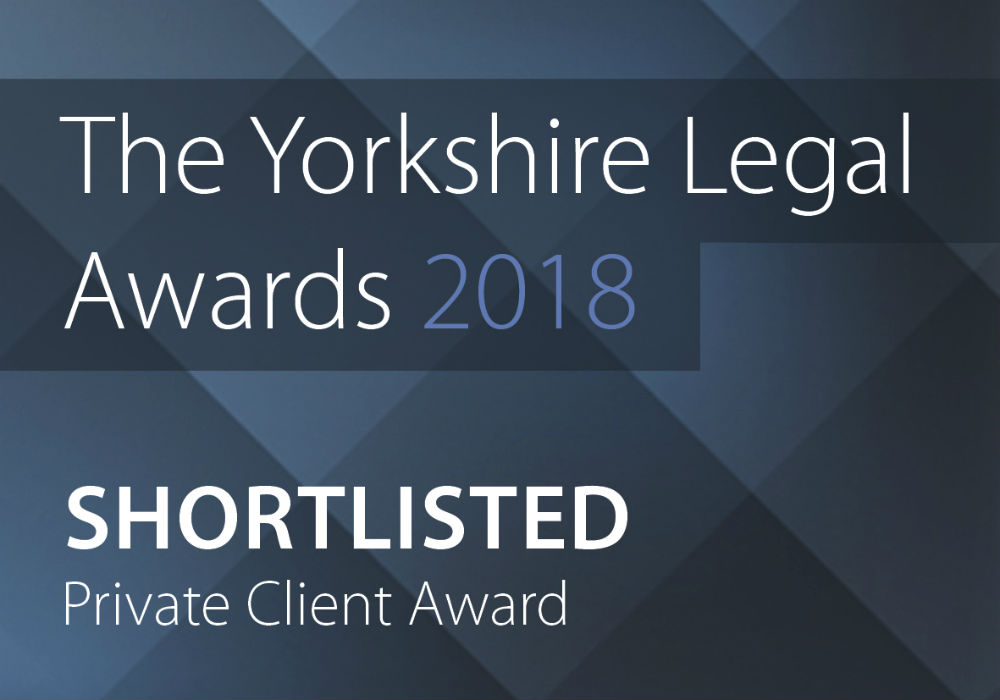 Shortlisted for Yorkshire Legal Awards